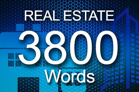 Real Estate 3800 words