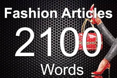 Fashion Articles 2100 words