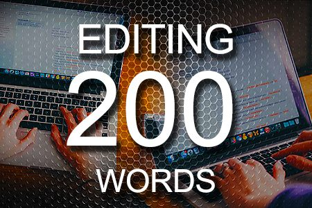 Editing Services 200 words