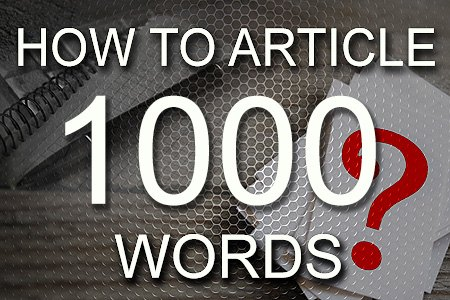 How To Articles 1000 words