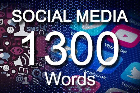 Social Media Posts 1300 words