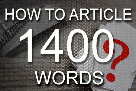 How To Articles 1400 words