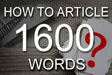 How To Articles 1600 words