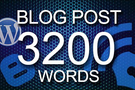 Blog Posts 3200 words