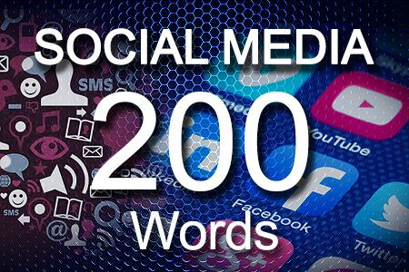 Social Media Posts 200 words