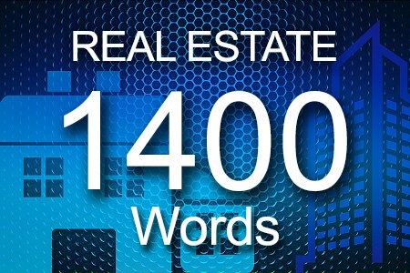 Real Estate 1400 words