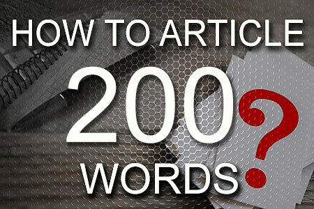 How To Articles 200 words