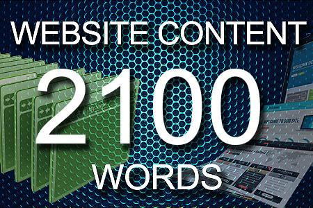 Website Content 2100 words