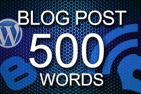 Blog Posts 500 words