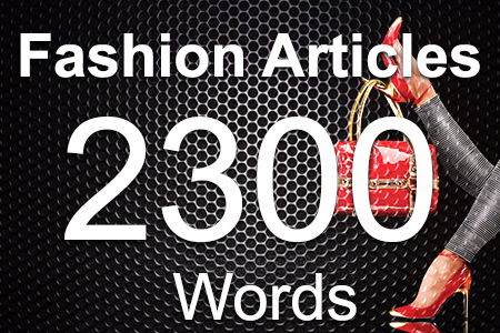 Fashion Articles 2300 words