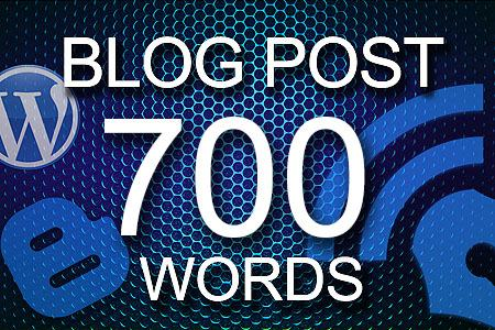 Blog Posts 700 words