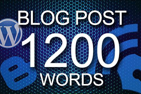 Blog Posts 1200 words