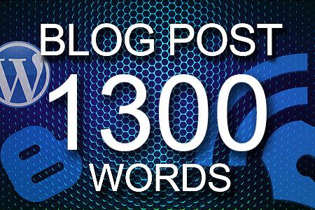 Blog Posts 1300 words