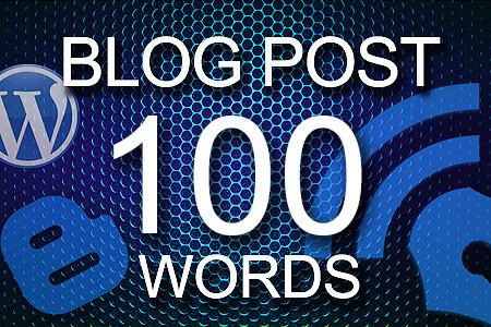 Blog Posts 100 words