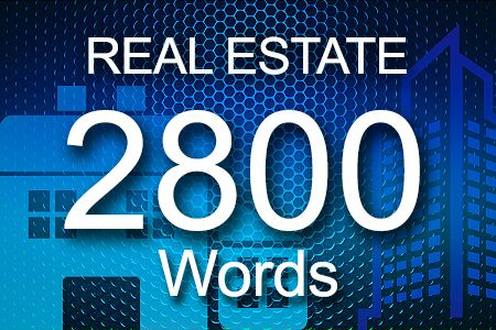 Real Estate 2800 words