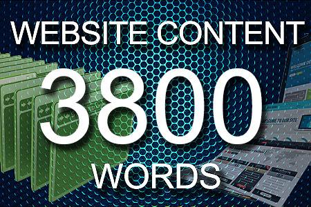 Website Content 3800 words