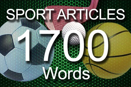 Sport Articles 1700 words