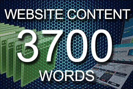 Website Content 3700 words