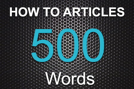 How To Articles 500 words