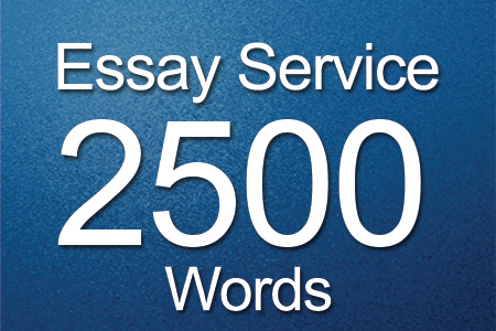 Essay Services 2500 words