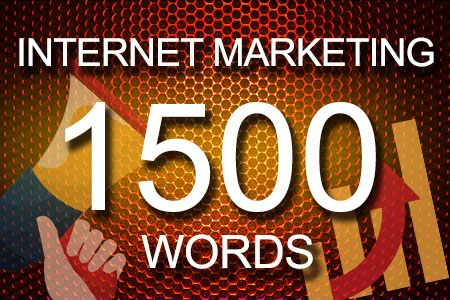 Internet Marketing 1500 words