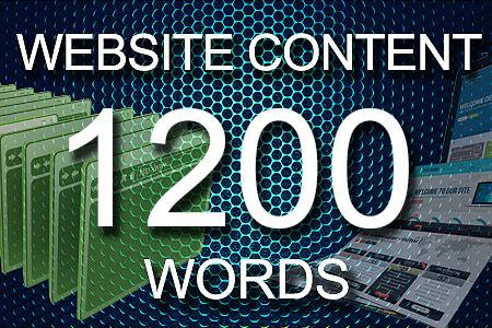 Website Content 1200 words