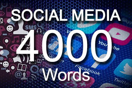 Social Media Posts 4000 words