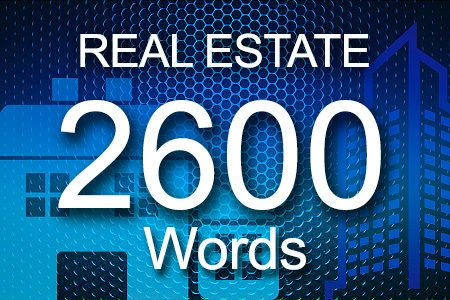 Real Estate 2600 words