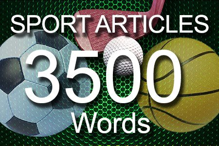 Sport Articles 3500 words