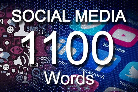 Social Media Posts 1100 words
