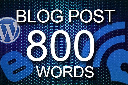 Blog Posts 800 words