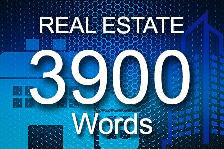 Real Estate 3900 words