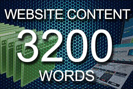 Website Content 3200 words