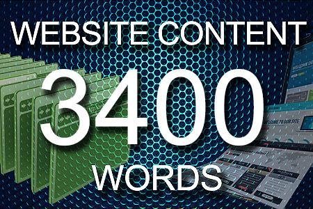 Website Content 3400 words