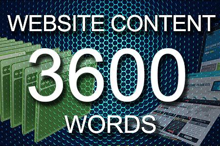 Website Content 3600 words