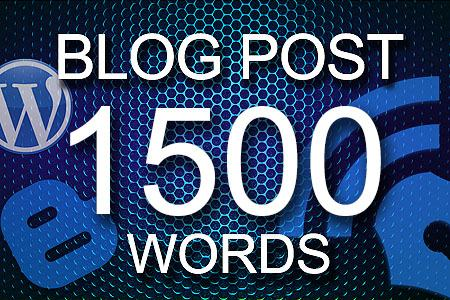 Blog Posts 1500 words