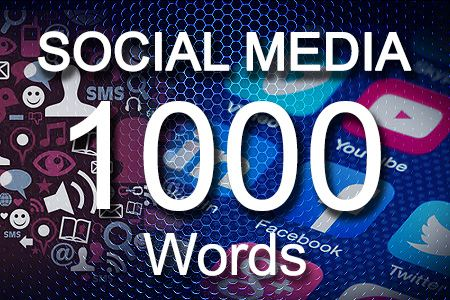 Social Media Posts 1000 words
