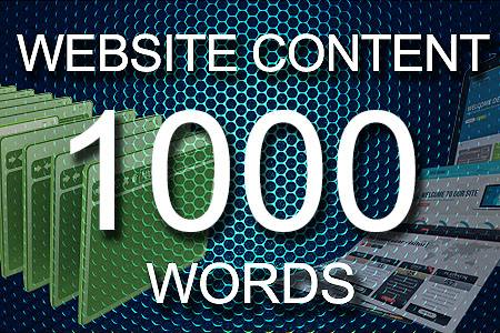 Website Content 1000 words