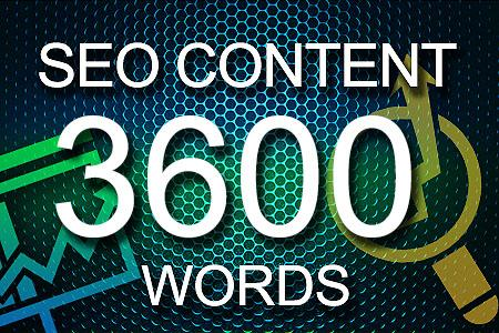 Seo Content 3600 words