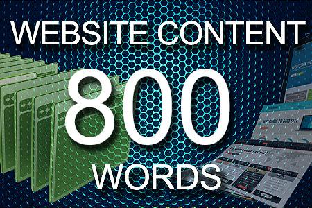 Website Content 800 words