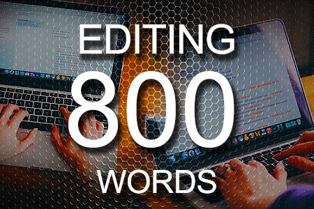 Editing Services 800 words