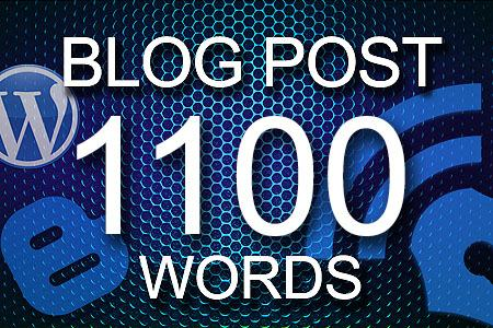 Blog Posts 1100 words