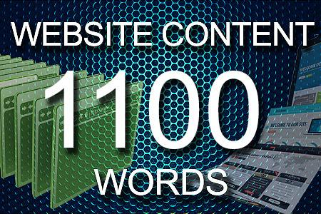 Website Content 1100 words