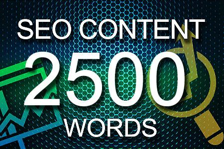 Seo Content 2500 words