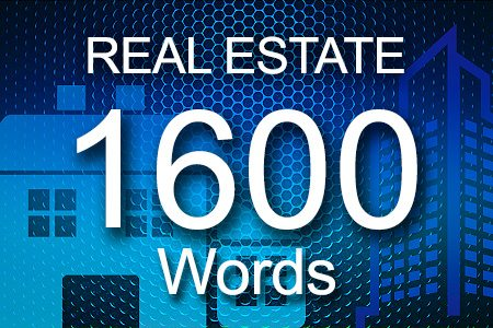Real Estate 1600 words