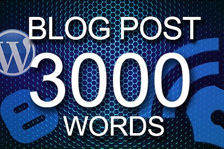 Blog Posts 3000 words