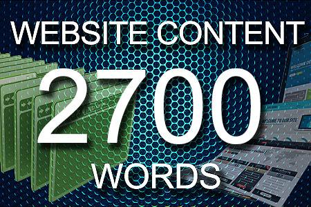Website Content 2700 words