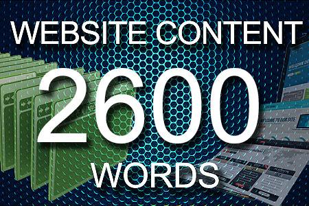 Website Content 2600 words