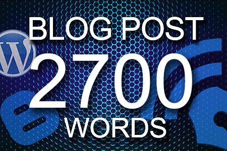 Blog Posts 2700 words