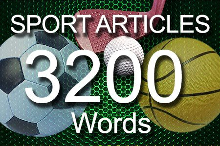 Sport Articles 3200 words